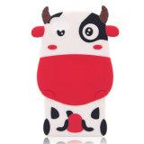 A caixa a mais nova do silicone do telefone móvel da vaca dos desenhos animados 2014