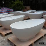 Badkuip van de Ton van het Bad van de Steen van Kingkonree de Witte Moderne Kunstmatige (BT171228)