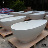 Bañera de piedra artificial moderna blanca de la tina de baño de Kingkonree (BT171228)