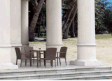 Présidence de rotin de meubles de jardin et Tableau extérieurs de rotin