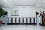 Balcón decorativo de acero galvanizado de alta calidad 16 que cercan con barandilla de la aleación de aluminio de Haohan