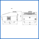 Grande imprimante à jet d'encre portative de caractères de Dod pour l'impression de carton