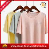 Qualité occasionnelle d'exportation de coton du T-shirt 100 de femmes