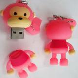 주문을 받아서 만들어진 USB 섬광 드라이브 외투 PVC 귀여운 마우스 USB 128GB 256GB