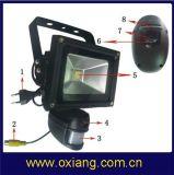 Home Jardín de Luz Inicio Monitor inalámbrico cámara oculta DVR CCTV Luz LED para cámaras de vídeo WiFi resistente al agua de la cámara de la luz de la PIR ZR710W