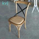 フランス様式の固体カシ木スタック可能十字の背部結婚式の宴会の椅子(RCH-4001-5)