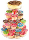 4 support de niveau de l'acrylique Round Cupcake Dessert les détenteurs d'affichage pour les mariages et événements spéciaux