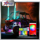 fruste di sicurezza di 4FT 5FT RGB LED dalle fruste del Bluetooth Control LED per le fruste della jeep UTV ATV LED