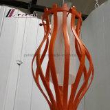 Lámpara pendiente de la carrocería hueco anaranjada moderna para el comedor