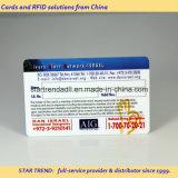 Cartão plástico do PVC do cartão com a listra magnética para o hospital
