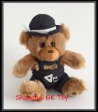 Teddybeer in het Kostuum van de Algemene en Uitrusting van de Hoed