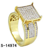 Il micro dell'argento sterlina dell'anello 925 di modo pavimenta gli anelli delle donne della CZ