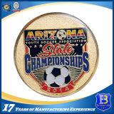 Монетка изготовленный на заказ футбола выдвиженческая с мягкой эмалью (Ele-C011)