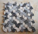 Mattonelle di marmo Mixed della parete di pietra del mosaico del materiale da costruzione
