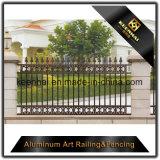 装飾的な力の別荘のための上塗を施してある鋳造アルミの金属の庭の防御フェンス