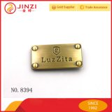 A placa de bronze do logotipo da antiguidade da etiqueta do logotipo do metal da bolsa do projeto de Jinzi personaliza a placa do logotipo do metal