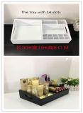 Organisateurs acryliques de renivellement de Comsmetic avec des tiroirs