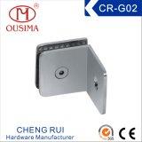 Conector de vidro do banheiro do lado único quadrado de 90 graus (CR-G02)