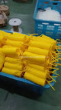Tubo amarillo del retroceso del poliuretano con la guarnición (12*8m m, los 7.5M)