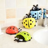 Cartoon Plastic Ladybug Sucker Suction Tooth Brush Holder pour enfants