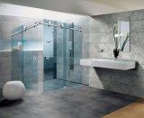 Montagem de porta de chuveiro de vidro deslizante de qualidade (FS-002)