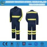 Bata del bombero del trabajo de la venta al por mayor del algodón del diseño para los hombres