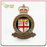 Emblema macio tingido metal personalizado do Pin do Lapel do esmalte do chapeamento preto
