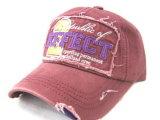 La broderie recouvre les casquettes de baseball promotionnelles de chapeau de Snapback de chapeaux de coton