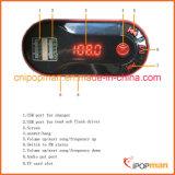 Передатчик Usbcar стерео FM устройства автомобиля с наушниками Bluetooth