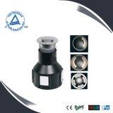luz subterráneo de la cubierta de 2W IP67 LED, iluminación subterráneo, lámpara del punto del LED