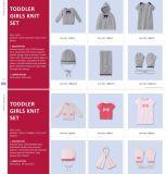 O inverno Qualidade Alta Cardigan Pulôver Hat Cachecol Luvas Conjuntos de malha de algodão Suéter Cashmere Poncho de lã para Toddler Meninas