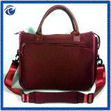 秋の季節のベージュCorduoryの女性のハンドバッグ