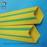 Amarelo Verde PE Tubo Termorretrátil para marcas de cabo/tubo termoencolhível de Fibra Óptica