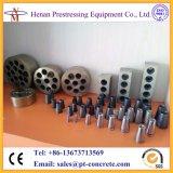 Cabeças de âncora multi-furos (placas de cunha) para cabo pré-pressionado de 12,7 mm