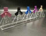Crémaillère en cristal acrylique de bâti d'étalage pour l'étalage de fileur de personne remuante