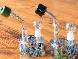 소형 기름 한덩어리 의장 Recyclers 대리석 인라인 Perc 유리제 수관