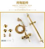 2016 Nuevo Diseño de Una Manija para ZF-709 Jade Latón Conjunto de Ducha