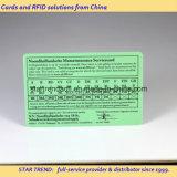 Tarjeta de PVC de tarjetas de plástico con banda magnética para el Hospital