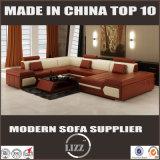 部門別のソファーの舞台装置の現代家具Uの形の革ソファー