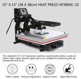Grand format 15X15 de transfert de chaleur T-shirt de la machine de la chaleur Appuyez sur la machine