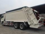 Compressor do lixo de Auman 6X4 16m3 que recicl o caminhão
