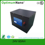 24 V batterie Litium-Ion 24V 60Ah Batterie LiFePO4 avec divers cas