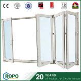 Раздвижные двери PVC двери складчатости Bi удара внешние UPVC урагана