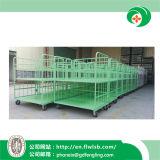 Gabbia verde chiaro di logistica del metallo per il magazzino con approvazione del Ce