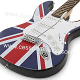 Vente en gros / autocollants Guitare électrique / Lp Guitare / Guitare Fournisseur / Fabricant / Cessprin Music (ST602) / The National Flag Guitar