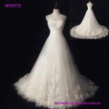 ثوب حقيقيّة بيضاء [ستربلسّ] أنثويّ زفافيّ [إكسيمن] [نون-إكسبنسف] فصل صيف عرس ثياب