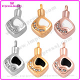 Lockets para pendentes do Rhombus das cinzas com cristais Ijd9680