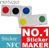 Faible prix quatre couleurs Impression Offset Ntag213 autocollant NFC pour système de fidélité