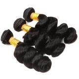 O cabelo frouxo peruano do Virgin da onda empacota o Weave do cabelo humano dos negócios