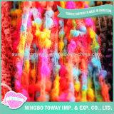 Filati fantasia di tessitura lavorati a maglia del cotone della protezione di inverno della sciarpa